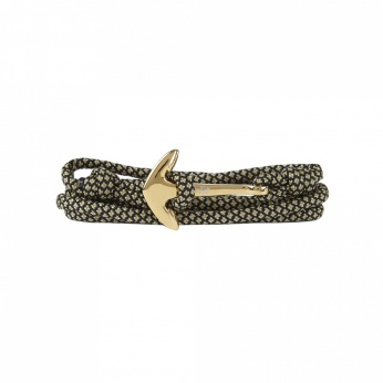 Pulsera Paracord Anchor dorado